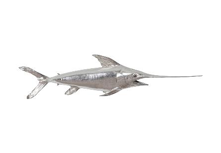 Broadbill Swordfish Fish Silver Leaf