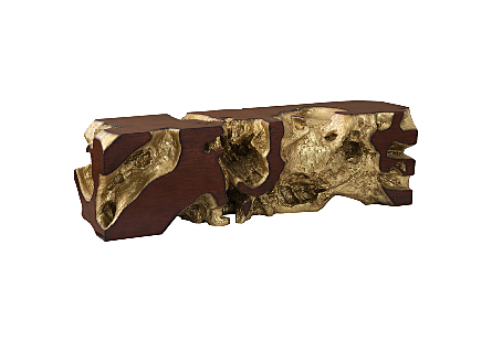 Freeform Bench Gold Leaf, Faux Bois