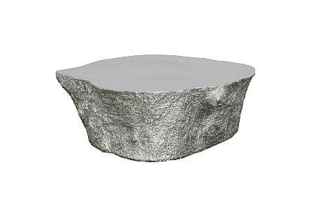 Bark Coffee Table Silver Leaf