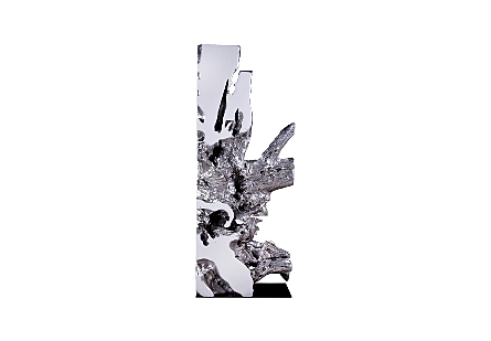 Freeform Sculpture White, Silver Leaf
