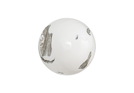 Cast Root Wall Ball Resin, White, SM