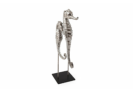 Seahorse on Stand Silver Leaf