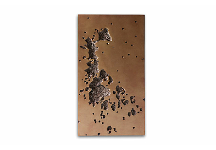 Splotch Wall Art Rectangle, Brass