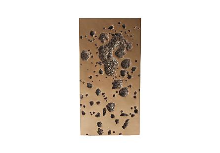 Splotch Wall Art Rectangle, Brass