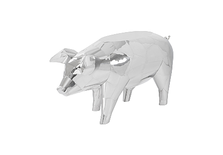 Babe Pig Side Table Stainless Steel