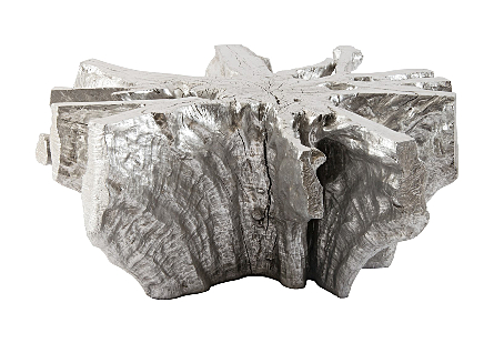 Freeform Coffee Table Silver Leaf