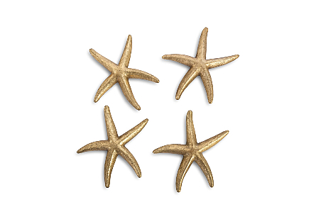 Starfish Gold Leaf, Set of 4, SM