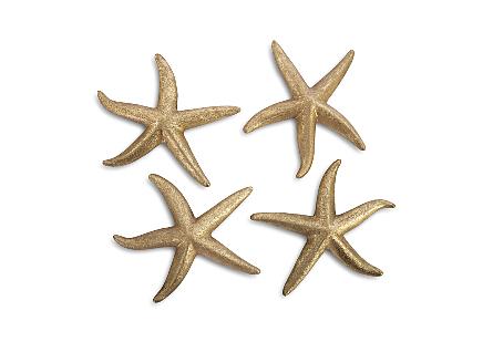 Starfish Gold Leaf, Set of 4, MD