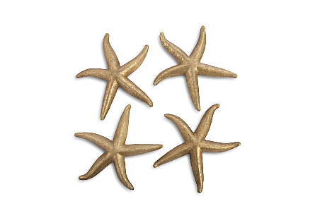 Starfish Gold Leaf, Set of 4, LG