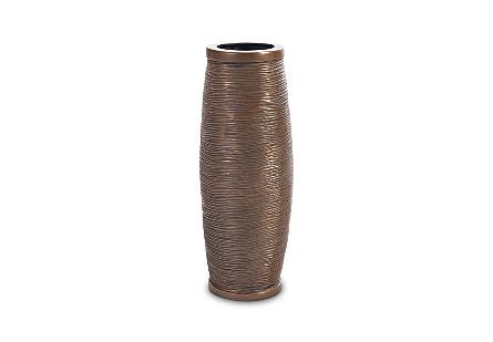 Spun Wire Vase Bronze