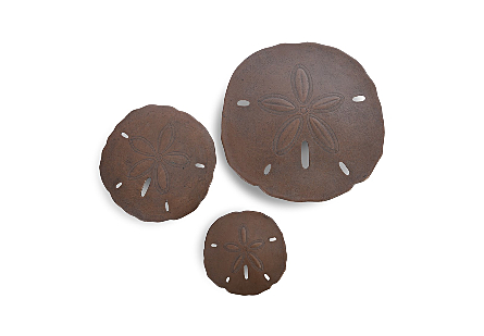 Sand Dollar Wall Tiles Bronze, Set of 3