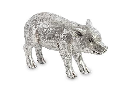 Standing Piglet Silver Leaf