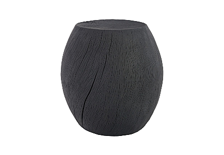 Drum Stool Resin, Charred