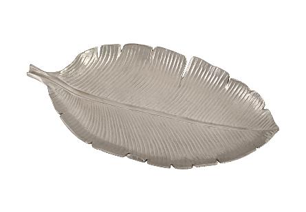 Banana Leaf Bowl Polished Aluminum, LG