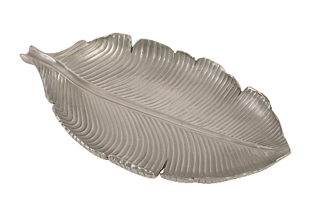 Banana Leaf Bowl Polished Aluminum, SM