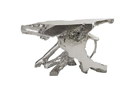 Freeform Console Table Silver Leaf