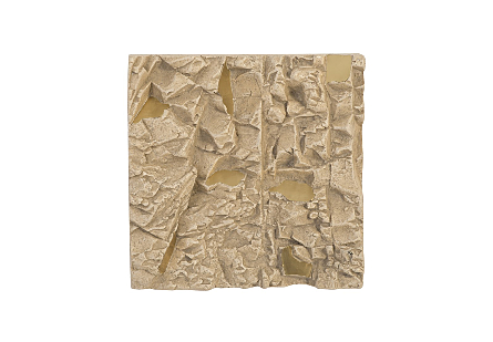 Rubble Wall Tile Brass Accents