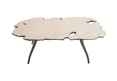 Lava Coffee Table on Iron Legs