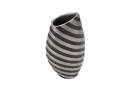 Turbo Vase Aluminum and Black