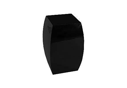 Taba Side Table Gel Coat Black