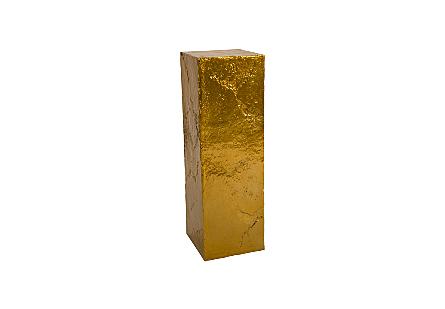 Slate Pedestal Liquid Gold