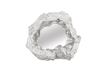 Rock Pond Mirror Silver Leaf
