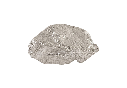 Boulder Wall Art Silver Leaf