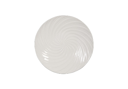 Turbo Dish Wall Art Gel Coat White