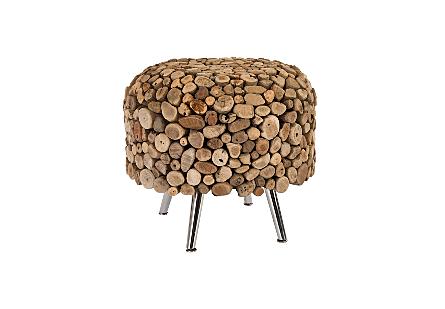 Montserrat Round Side Table SS Legs