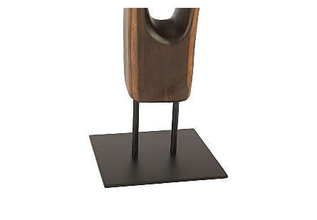 Cast Sonokeling Floor Sculpture  Faux Bois