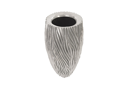 Alon Planter Polished Aluminium