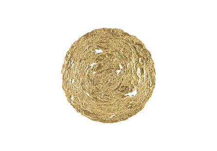 Molten Disc Wall Art Gold Leaf, MD