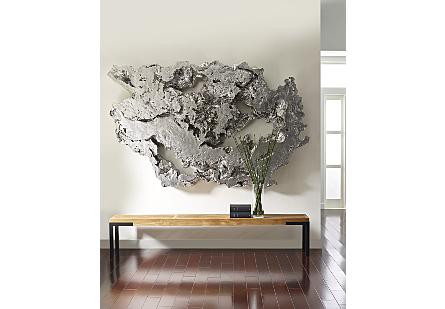 Burled Root Wall Art Silver Leaf, LG