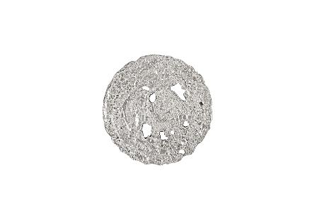 Molten Disc Wall Art Silver Leaf, SM