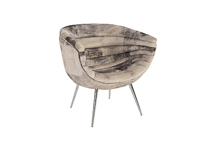 Nouveau Club Chair Mist Grey, Stainless Steel Legs