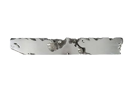 Freeform Console Table Silver Leaf, XL