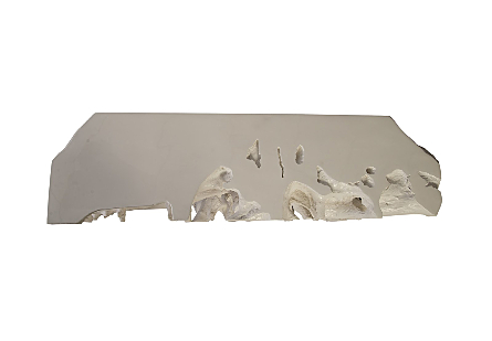 Cast Root Console Table, Gel Coat White