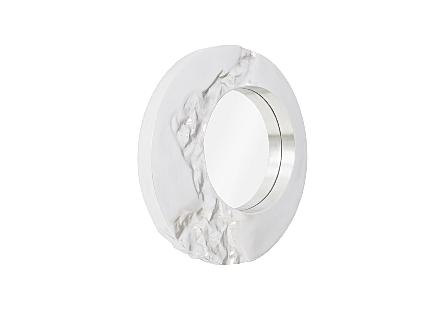 Mercury Mirror Antique Silver