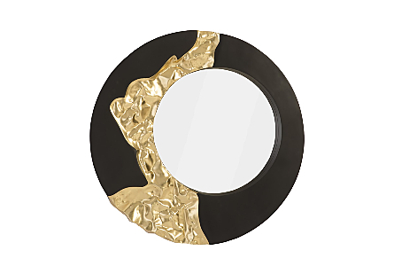 Mercury Mirror Black, Gold Leaf