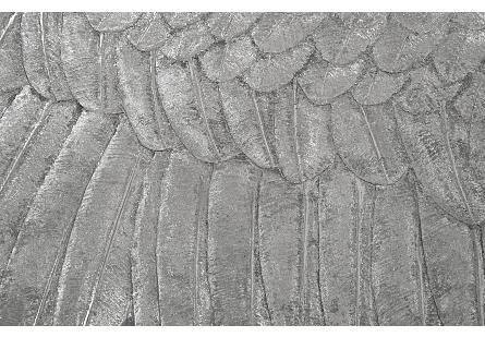 Soaring Eagle Wall Art Resin, Silver Leaf, LG