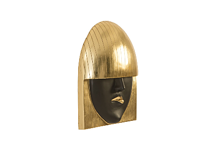 Fashion Faces Wall Art Pout, Gold Leaf, LG