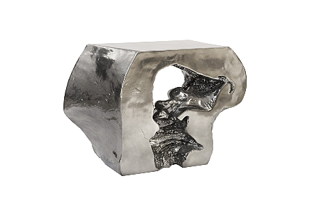 Plateada Hollow Console Liquid Silver