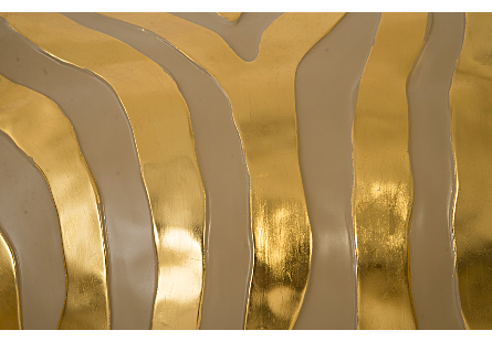 Zebra Illuminated Wall Art LED, Gold, Right Facing