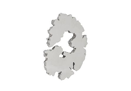 Lava Slice Wall Art Resin, Stainless Steel, LG