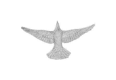 Dove Wall Art Silver Leaf