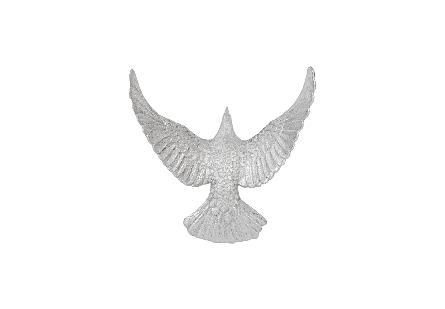 Dove Wall Art Silver Leaf