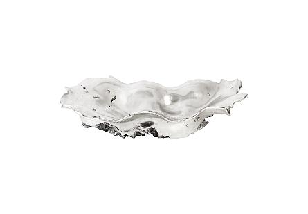 Rose Wood Burled Bowl Silver