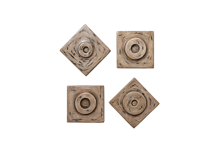Antique Cuadritos Wall Tiles Set of 4
