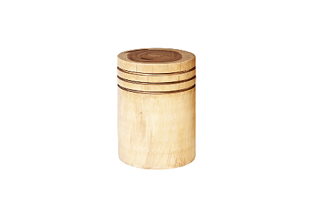 Chamcha Wood Side Table Round