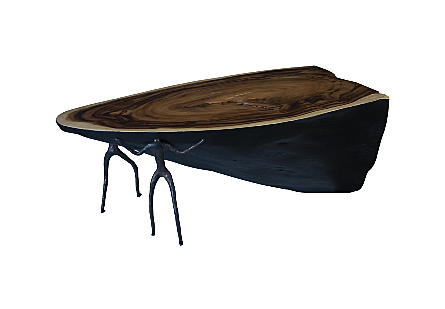 Atlas Coffee Table Burnt Edges, Chamcha Wood/Metal, Natural